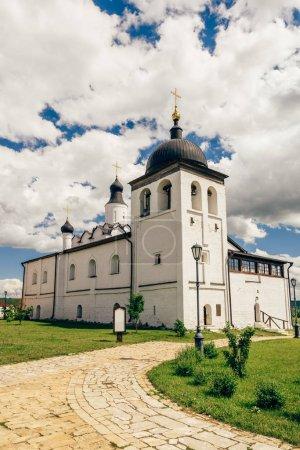 Temple of St. Sergius of Radonezh on Sviyazhsk Island in Russia. Vertical.