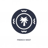 french west african franc icon on white background Simple eleme