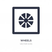 wheels icon on white background Simple element illustration fro