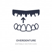 overdenture icon on white background Simple element illustratio