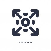 full screen icon Simple element illustration from user interface concept full screen editable symbol design on white background Can be use for web and mobile