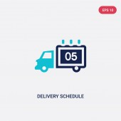 two color delivery schedule vector icon from delivery and logist