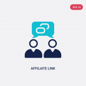two color affiliate link vector icon from general-1 concept iso