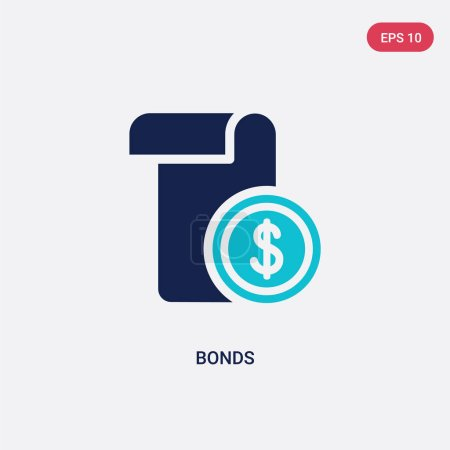 two color bonds vector icon from cryptocurrency economy concept.