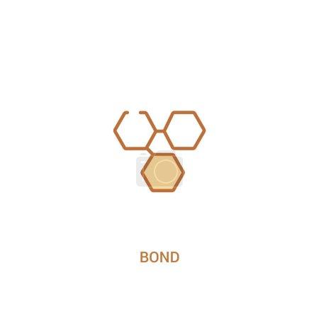 bond concept 2 colored icon. simple line element illustration. o