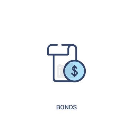 bonds concept 2 colored icon. simple line element illustration.