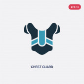 two color chest guard vector icon from sports concept isolated