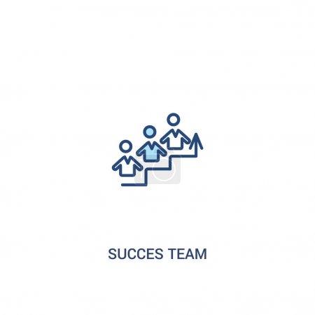 succes team concept 2 icône colorée. élément de ligne simple illustra