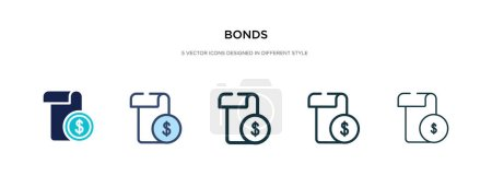 bonds icon in different style vector illustration. two colored a