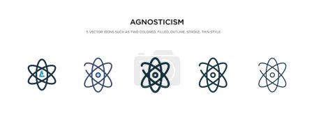 Agnosticism icon in different style vector illustr...