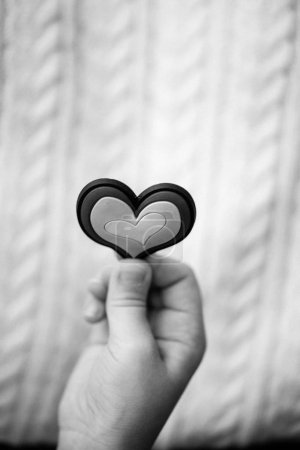 Photo for Closeup view of person holding decorative heart, cropped image - Royalty Free Image