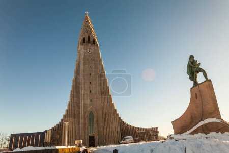 Photo for Hallgrimskirkja is a Lutheran parish church cathedral in Reykjavik, Iceland. - Royalty Free Image