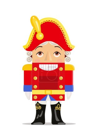 Fairy tale character The Nutcracker. Childrens toy. Vector illustration