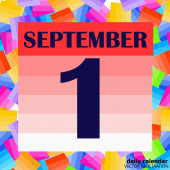 September 1 icon For planning important day Banner for holidays and special days Illustration