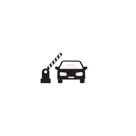 Offene Schranke, Auto-Symbol auf weiß