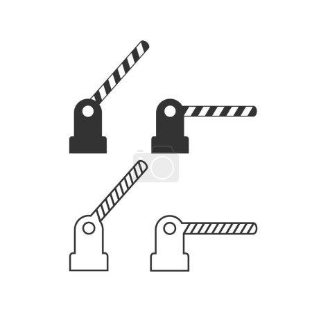 Öffnen und Schließen von Hindernissen Linie Symbol gesetzt. Vektorillustration