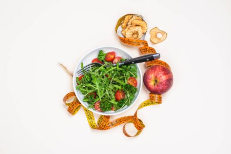 Photo for Healthy eating concept. Diet or healthy lifestyle background. Copy space - Royalty Free Image