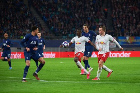 Photo for Leipzig, Germany - March 20, 2020: Lukas Klostermann during the match Leipzig vs Tottenham at Leipzig Arena - Royalty Free Image