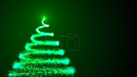 Photo pour Arbre de Noël sur fond noir. 3d coloré rendu toile de fond - image libre de droit