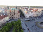 types of Prague in sunny day in the spring