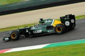 MUGELLO, ITALY - MAY 2012: Rodolfo Gonzales of Caterham F1 team races during Formula One Teams Test Days at Mugello Circuit on May, 2012 in Italy.