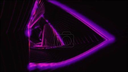 Photo pour Tunnel de lumière abstraite. Rétro éclairage disco. Fond de néon. - image libre de droit