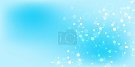 Photo for Abstract technology and innovation background with molecular structures and neural network. Molecules DNA and genetic engineering. Technical and scientific concept - Royalty Free Image