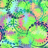 Vector seamless texture from pastel gears and laurel wreaths in kaleidoscopic bluish style To decorate fabrics for kids and moms or festive paper