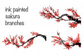 Cherry blossom Sakura bloom template