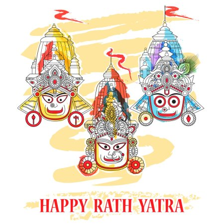 Ratha Yatra of Lord Jagannath, Balabhadra and Subhadra on Chariot
