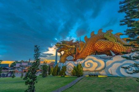 Sunset at Dragon descendants museum in Suphanburi....
