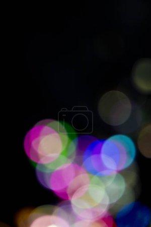 Glitter Bokeh Confetti On Black Background...