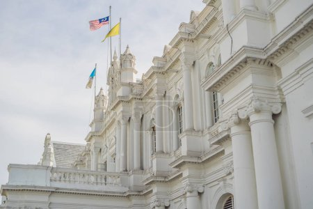 City Hall in George Town - Penang, Malaysia. British built historical building completed 1903 became the City Hall of George Town 1957.