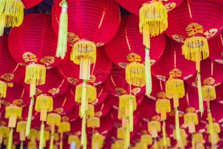 Red Chinese lanterns, Chinese New Year in Malaysia.