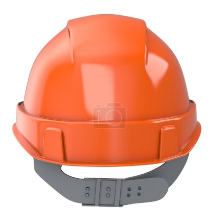 Photo for Construction helmet orange on an isolated background. 3d illustration - Royalty Free Image
