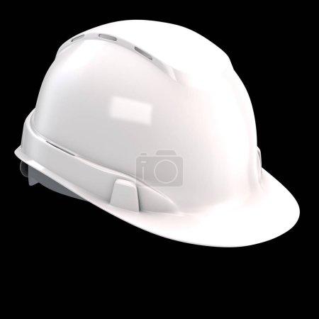 Photo pour Casque de construction sur un fond isolé. Illustration 3d - image libre de droit