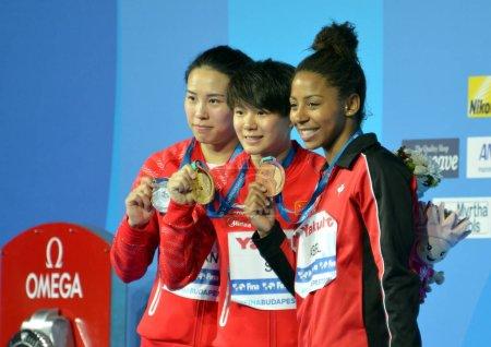Silver medalist Han Wang of