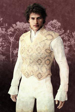 Illustration d'un beau personnage de style Jane Austen. Élégant personnage masculin en costume d'époque. Particulièrement adapté à Regency Romance, Austen et Mr Darcy fan fiction design et couverture de livre. Un d'une série .