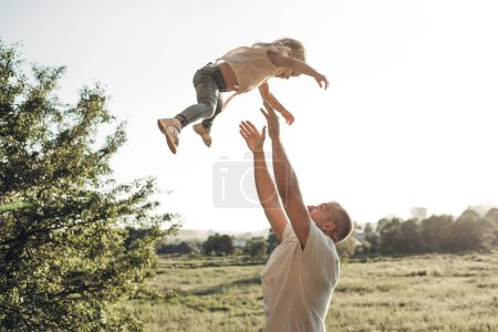 Photo for Happy Father and Daughter Having Fun, Enjoying Sunny Summer - Royalty Free Image