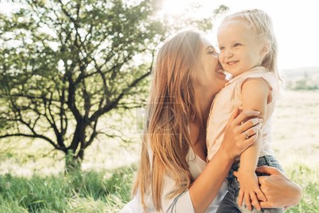 Photo for Happy Mother and Daughter Having Fun, Enjoying Sunny Summer - Royalty Free Image