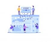 Flat Banner Everyday Inner Side Social Networks