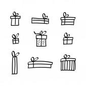 Vector Flight Pencil Drawn Gift Packs Set