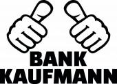 Male banker or bank clerk thumbs german