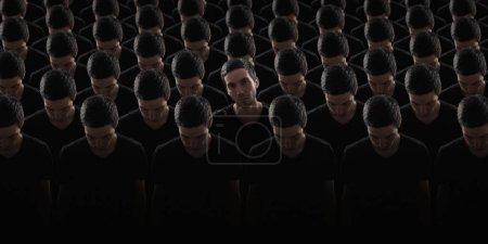 matrix effect, cloned man in darkness