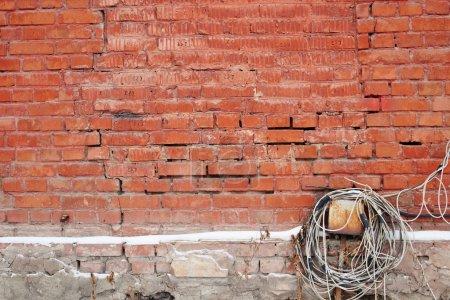 Photo pour Abstraite structure murale en brique minable - image libre de droit