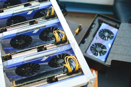Farm graphics cards for mining crypto currencies