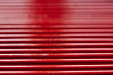 Foto de Conjunto de rojo lápices patrón, primer plano - Imagen libre de derechos