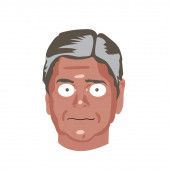 Political funny Caricature drawing Illustration Character portrait of Sean Hannity