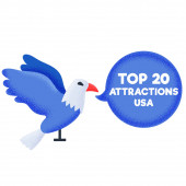 Top 20 attractions USA symbol of america bald eagle rating
