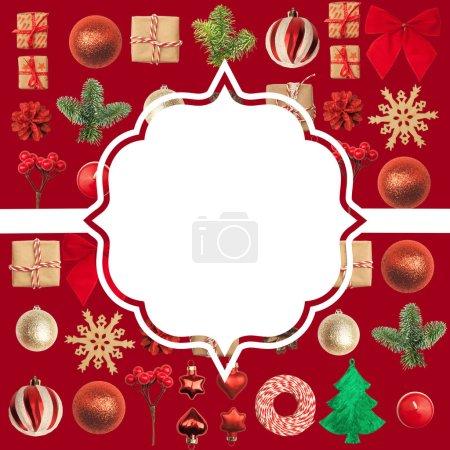 Photo pour Noël ou Nouvel An fond. Un endroit pour vos félicitations . - image libre de droit
